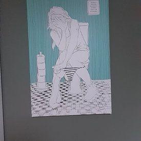 Kundenfoto: toilet von Kris Stuurop, auf leinwand