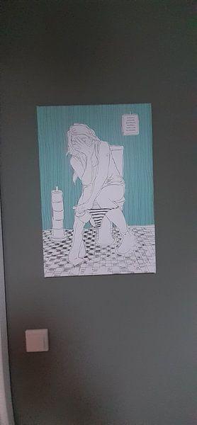 Klantfoto: WC van Kris Stuurop, op canvas