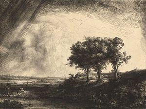 De drie bomen, Rembrandt van Rijn - 1643 von