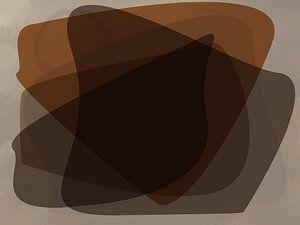 Abstract organische vormen van Maurice Dawson