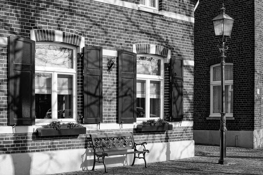 Typisch Nederlands straatbeeld in Wessem