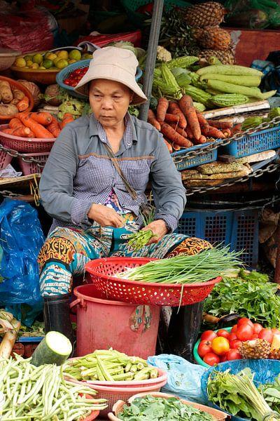 Markt Hoi An Vietnam van Bartholda Lucas
