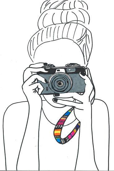 Illustration photographer black-white von Schildermijtje Shop