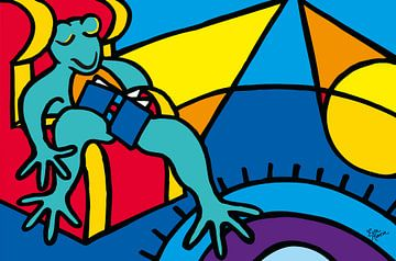 Frosch im Stuhl von ART Eva Maria