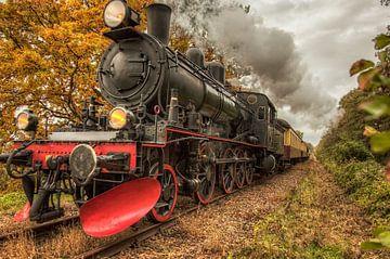Miljoenenlijn tijdens de herfst in Zuid-Limburg