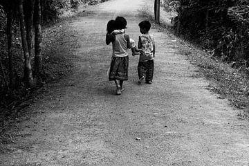 Kinderen in Cambodja von Thijs Wesselink