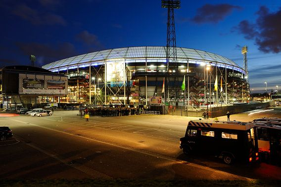 Stadion Feijenoord ofwel De Kuip in Rotterdam voor de halve finale van de KNVB beker 2016