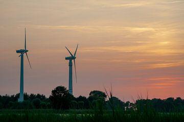 ad solis occasum ventus turbines ab Horumersiel von Michael Nägele