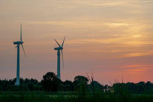 ad solis occasum ventus turbines ab Horumersiel van Michael Nägele