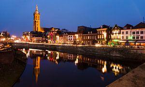 Sfeervolle avond op de Roerkade in Roermond. sur Mitchell Routs