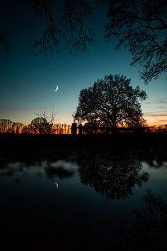 Landschap reflectie in de Achterhoek van Marco Scheurink