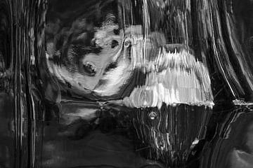 Schwarz/Weiss Abstrakt 5 von Alice Berkien-van Mil