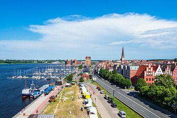 Blick auf den Stadthafen der Hansestadt Rostock von Rico Ködder