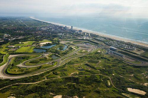 Circuitpark Zandvoort in vogelvlucht van Leon Weggelaar
