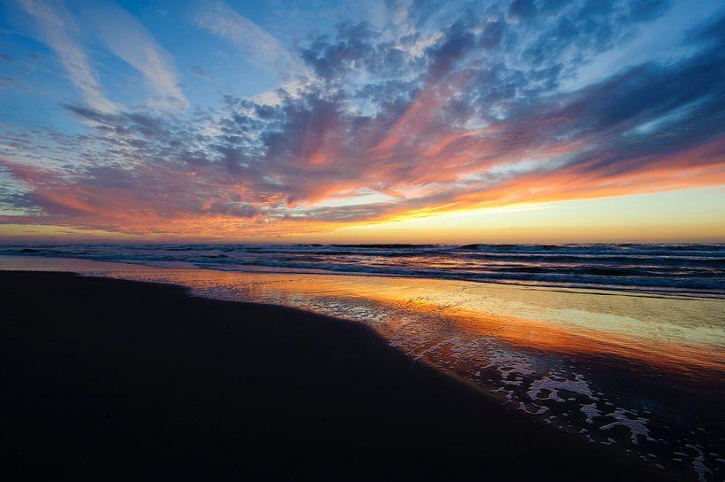 Net na zonsondergang - Texel - Nederland van Jeroen(JAC) de Jong