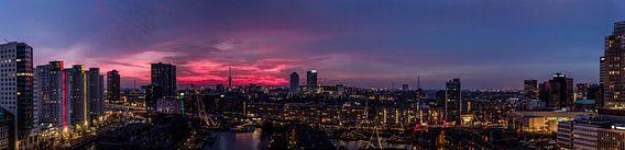 Panorama Rotterdam zonsondergang