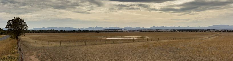 Grampians Park Panorama, Victoria Australie van Chris van Kan