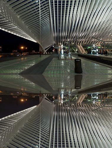 Abstract of Liege train station van Brian Morgan