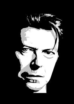 David Bowie in zwart-wit van Atelier Liesjes