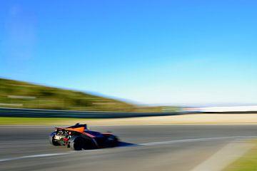 KTM X-Bow est une voiture de sport ultra-légère sur le circuit de Zandvoort sur Sjoerd van der Wal