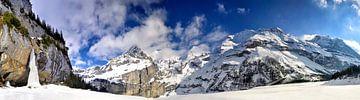 Winter Alpenpanorama in der Schweiz von Sjoerd van der Wal