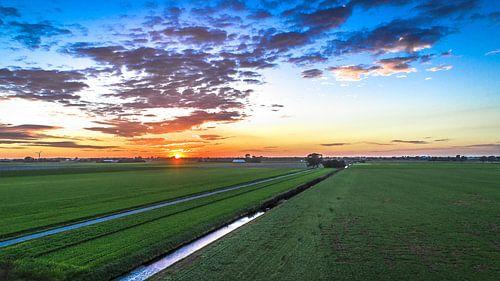 Zonsondergang van Sebastiaan van Stam Fotografie