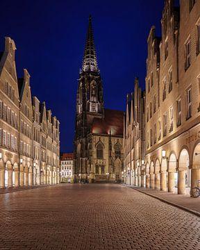 Prinzipalmarkt Münster - Blick auf die Lambertikirche von Steffen Peters