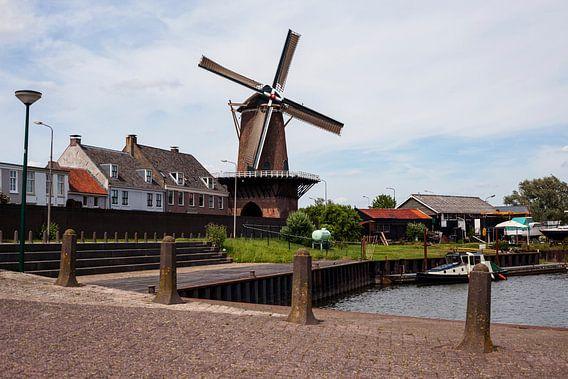 The windmill of Wijk bij Duurstede, The Netherlands