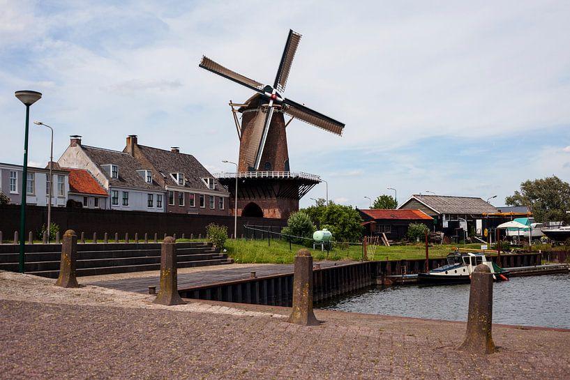 The windmill of Wijk bij Duurstede, The Netherlands van Jeroen van Esseveldt