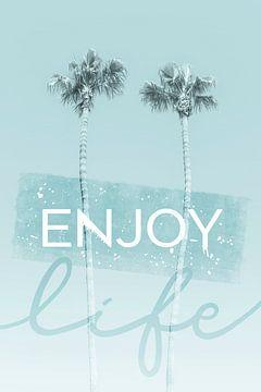 L'idylle des palmiers en turquoise | profiter de la vie sur Melanie Viola