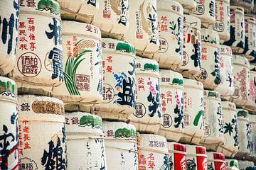 Prise de saké près du sanctuaire Meiji à Tokyo, Japon sur Expeditie Aardbol