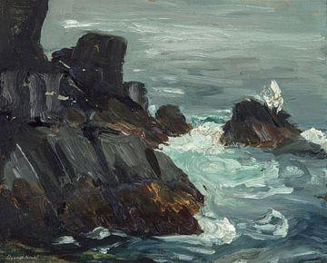 Promontoire Robert Henri-Rocky, Monhegan, Maine.