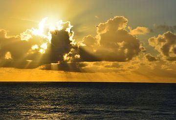 Zonsondergang op Lanzarote van Dustin Musch