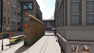 steampunk train 02 van H.m. Soetens