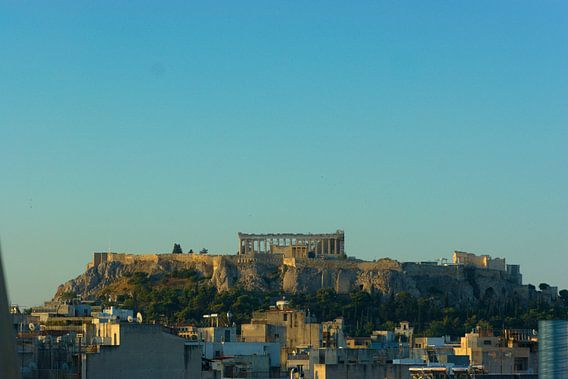 Stadsgezicht Athene met de Akropolis