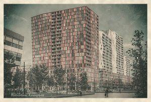 Oude ansichten: Rotterdam Kruisplein van