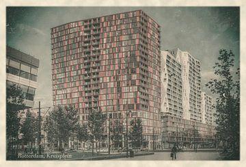 Oude ansichten: Rotterdam Kruisplein van Frans Blok