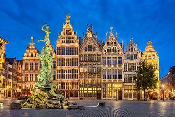 Grote Markt in Antwerpen van Michael Abid