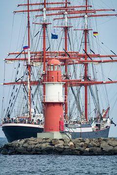 Segelschiffe auf der Ostsee während der Hanse Sail von Rico Ködder