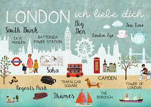 London I love you Collage