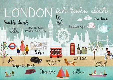 London – ich liebe dich Collage