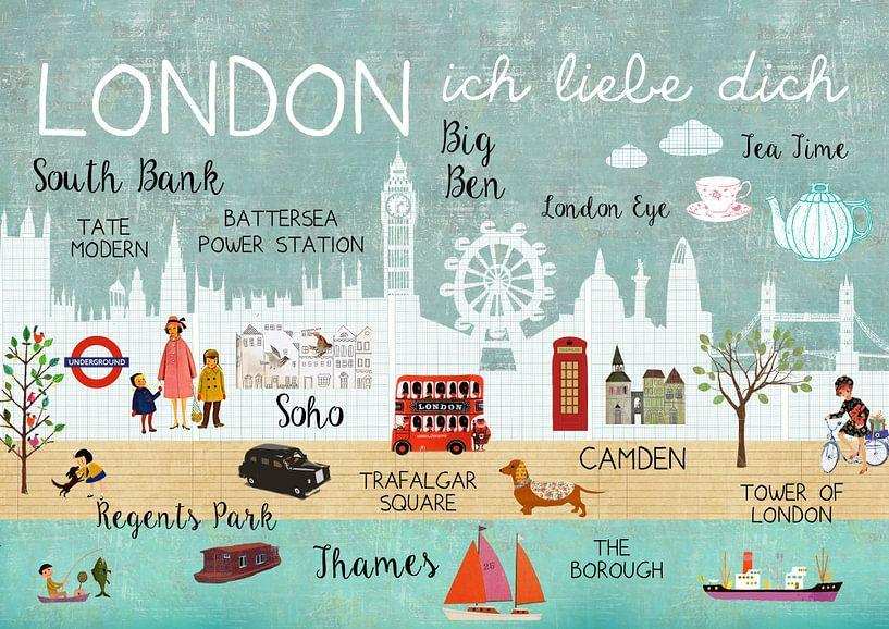 London – ich liebe dich Collage von Green Nest