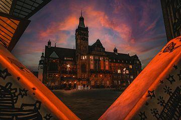 Stadhuis van Chemnitz op de markt van Johnny Flash