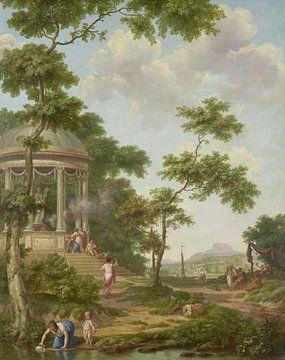 Arkadische Landschaft mit einem Tempel, Jurriaen Andriessen