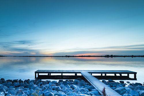 Sunset Schildmeer von P Kuipers