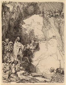Rembrandt van Rijn De opwekking van Lazarus van