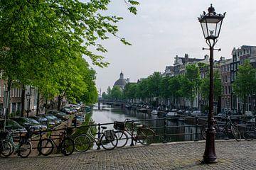Singel Amsterdam van Peter Bartelings Photography