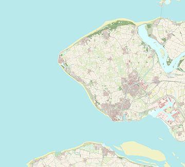 Kaart vanVlissingen