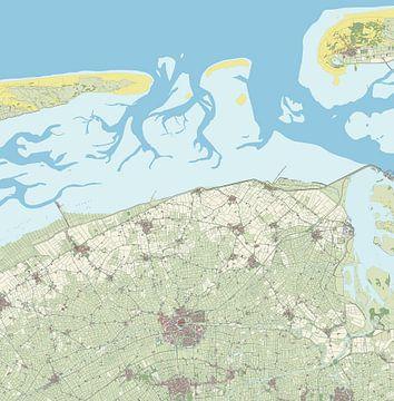 Kaart van Dongeradeel van