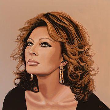 Sophia Loren Schilderij 3 van Paul Meijering